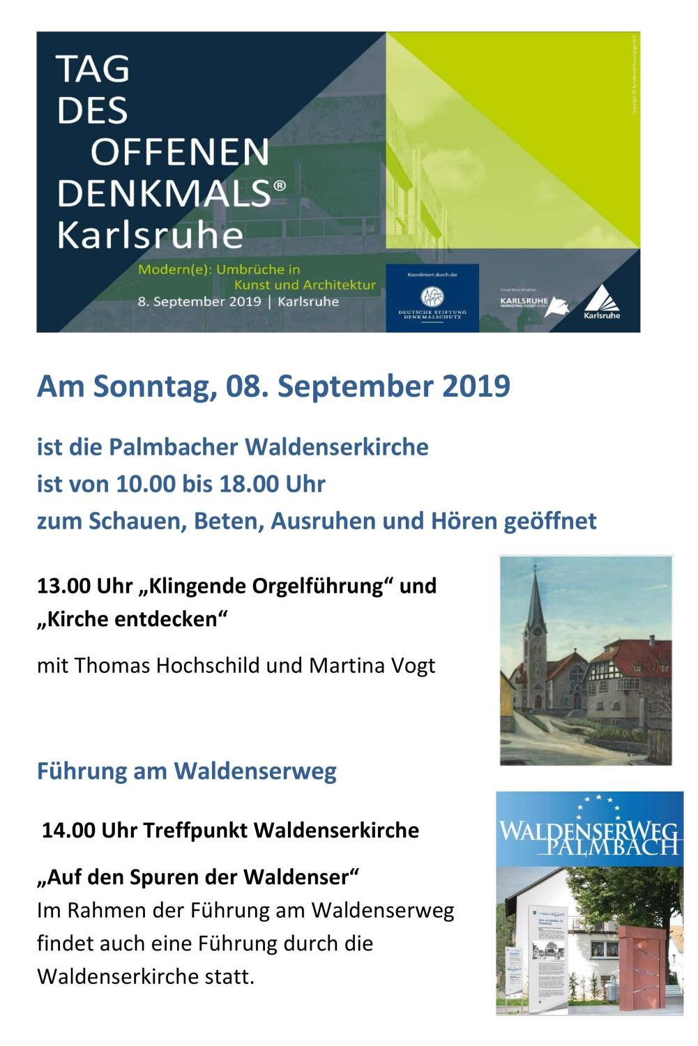 Denkmal-Tag in Palmbach am 08.09.2019